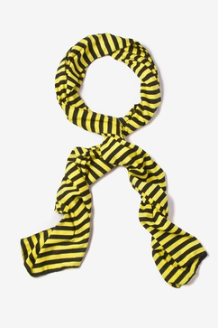 Mens Traveling Stripe Yellow Scarf