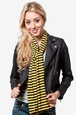 Yellow Polyester Traveling Stripe Scarf