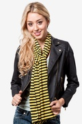 Traveling Stripe Yellow Scarf by Scarves.com