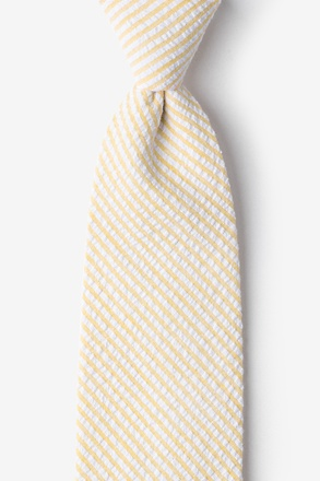 Yellow Seersucker Stripe Tie