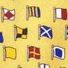 Yellow Silk A-Z International Flags Tie
