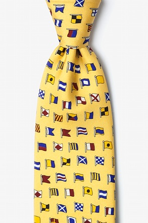 _A-Z International Flags Yellow Tie_