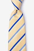 Yellow Silk Bann Extra Long Tie