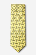 Bit by Bit Yellow Extra Long Tie Photo (1)