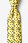 Bit by Bit Yellow Extra Long Tie Photo (0)