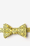 Yellow Silk Bit by Bit Self-Tie Bow Tie