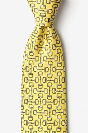 Bit by Bit Yellow Tie