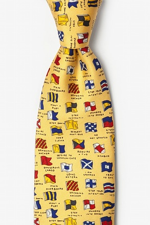 _Boating Signals Yellow Tie_