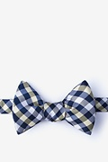 Yellow Silk Bora Bora Self-Tie Bow Tie