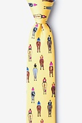 Yellow Silk Bringing Up the Rear Skinny Tie