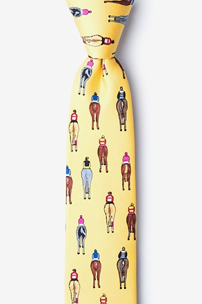 _Bringing Up the Rear Yellow Skinny Tie_