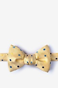 Yellow Silk Canary Butterfly Bow Tie