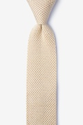 Classic Solid Yellow Knit Skinny Tie Photo (0)