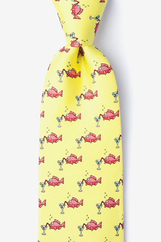 Drinks Like a Fish Yellow Tie Photo (0)