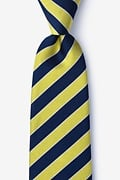Yellow Silk Fane Extra Long Tie