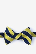 Yellow Silk Fane Self-Tie Bow Tie