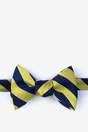 Fane Yellow Self-Tie Bow Tie