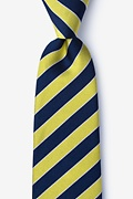Yellow Silk Fane Tie