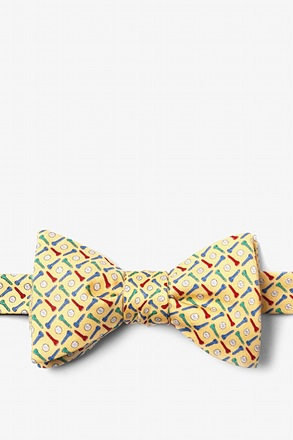 Golf Balls & Tees Butterfly Bow Tie