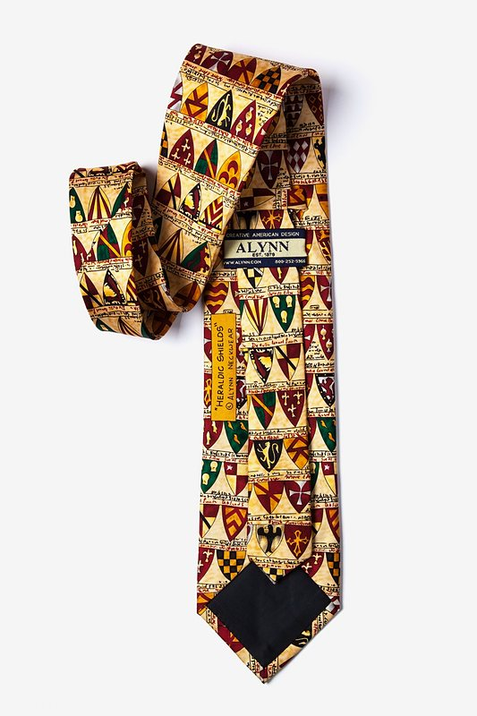 Heraldic Shields Yellow Tie Photo (1)