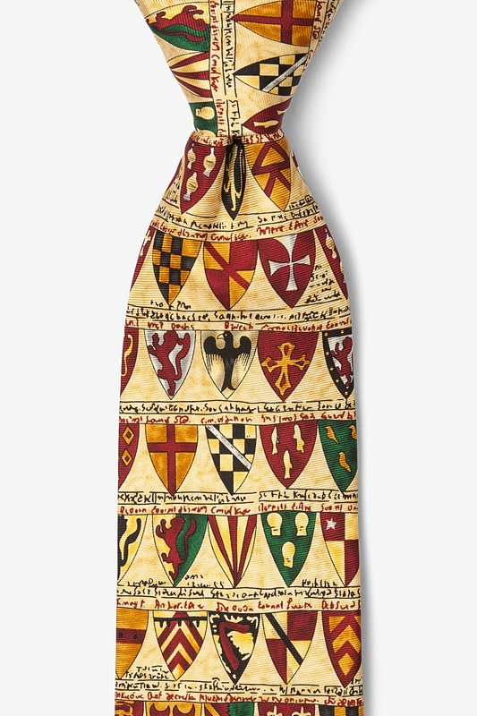 Heraldic Shields Yellow Tie Photo (0)
