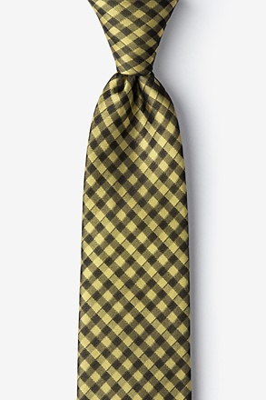 Isabela Yellow Extra Long Tie