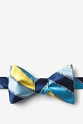 Yellow Silk Know the Ropes Bow Tie