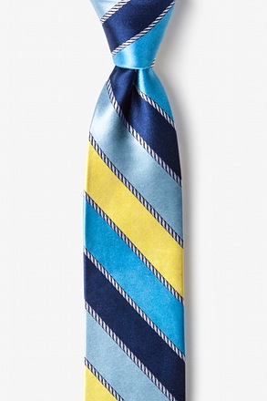 _Know the Ropes Yellow Skinny Tie_