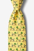 Yellow Silk Laundry Day Tie