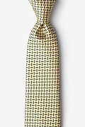 Yellow Silk Majorca Tie