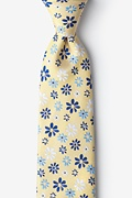 Yellow Silk Maui Tie