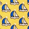Yellow Silk Micro Sailboats Tie