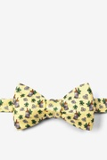 Yellow Silk Mint Julep Afternoon Self-Tie Bow Tie