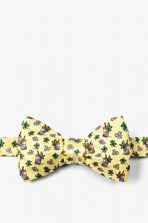 Mint Julep Afternoon Yellow Self-Tie Bow Tie