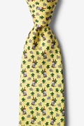 Yellow Silk Mint Julep Afternoon Tie