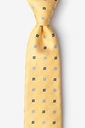Yellow Silk Mykonos Extra Long Tie