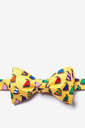 Rainbow Fleet Yellow Self-Tie Bow Tie