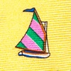 Yellow Silk Rainbow Fleet Tie