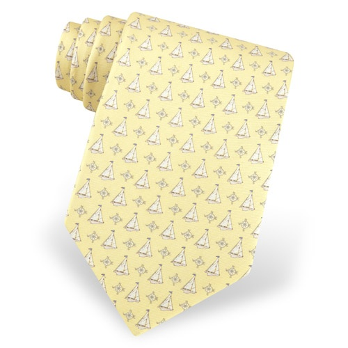 Sailboats & Compass Tie by Alynn Novelty