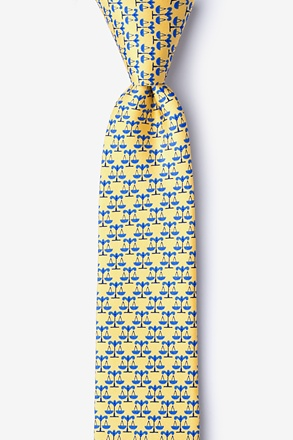 _Scales Of Justice Yellow Skinny Tie_