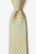 Yellow Silk Scales Of Justice Tie