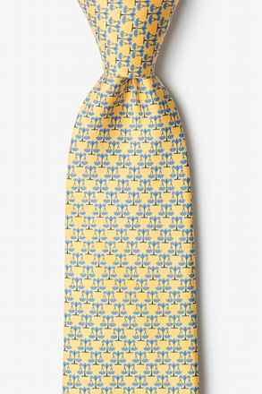 Scales Of Justice Yellow Tie