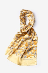 Yellow Silk Staphylococcus Scarf