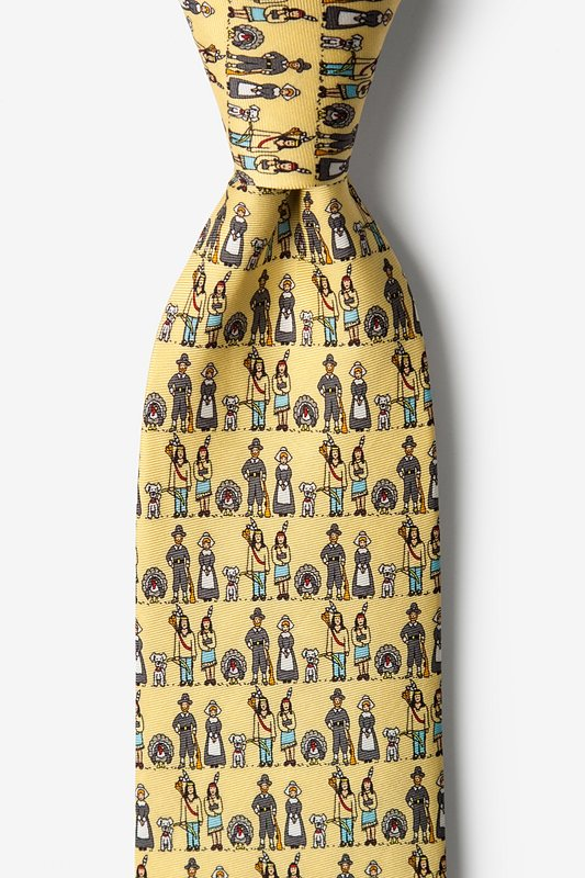 Thanksgiving Yellow Tie Photo (0)