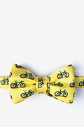 Yellow Silk Two Tire-d Self-Tie Bow Tie