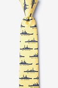 U.S. Battleships Skinny Tie Photo (0)