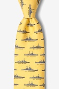 Yellow Silk U.S. Battleships Tie