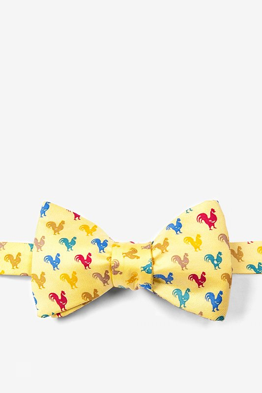 Wake Up Call Yellow Self-Tie Bow Tie Photo (0)