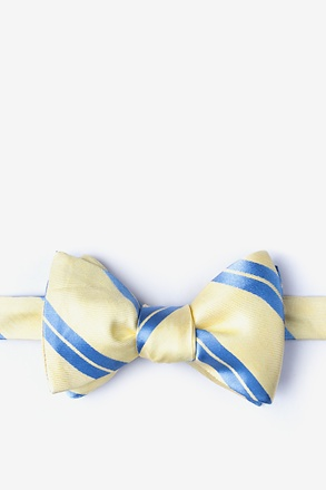 Wales Yellow Self-Tie Bow Tie
