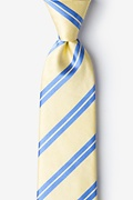 Yellow Silk Wales Tie